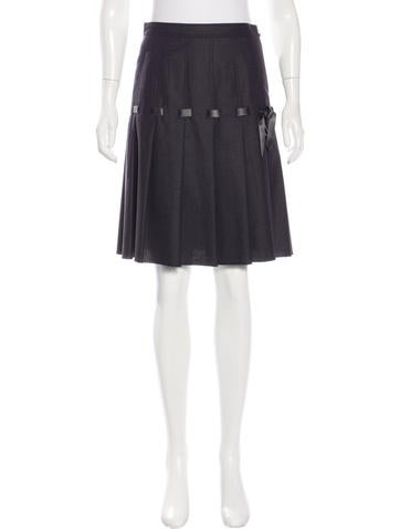 Moschino Virgin Wool A-Line Skirt w/ Tags None