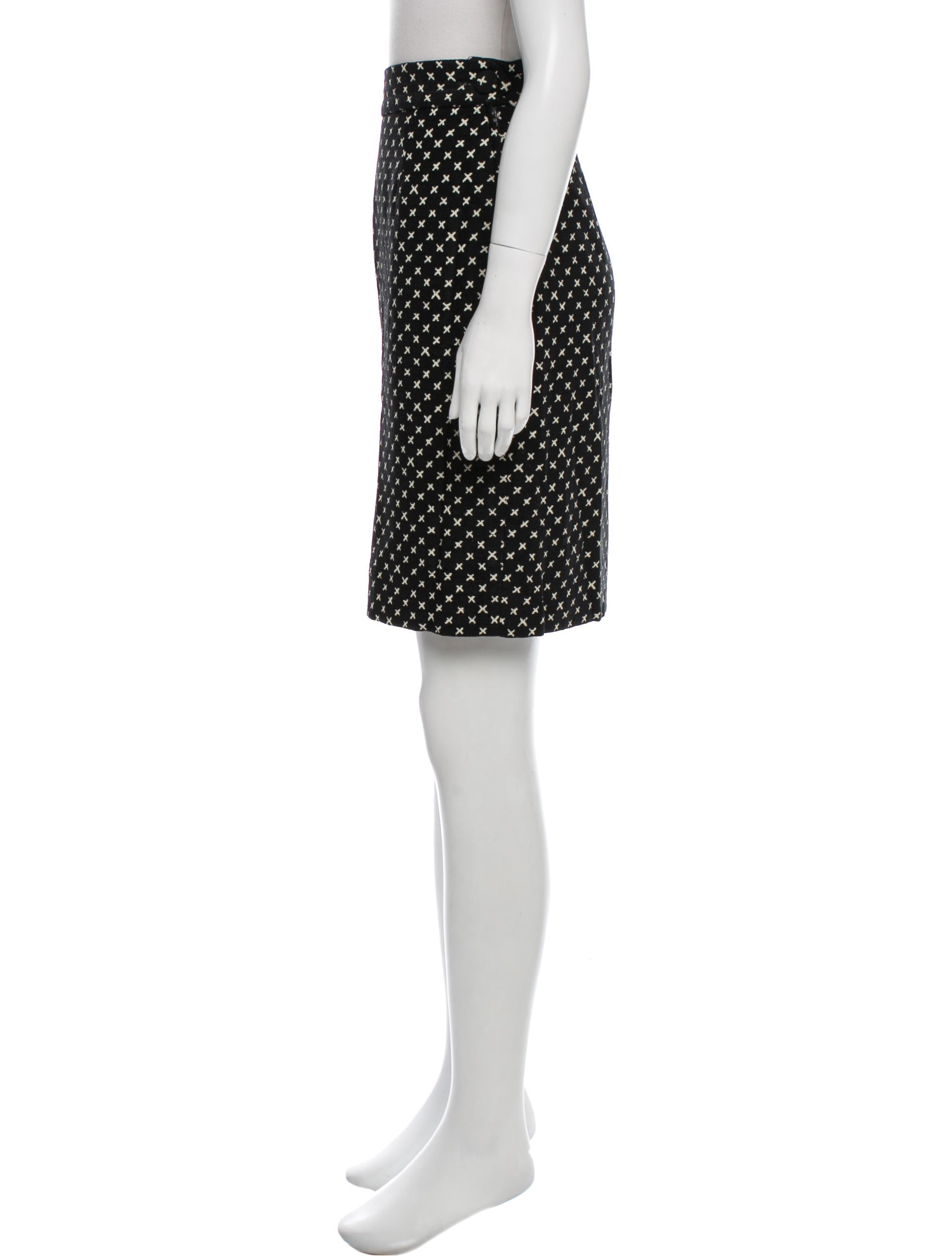 moschino corduroy knee length skirt clothing mos27447