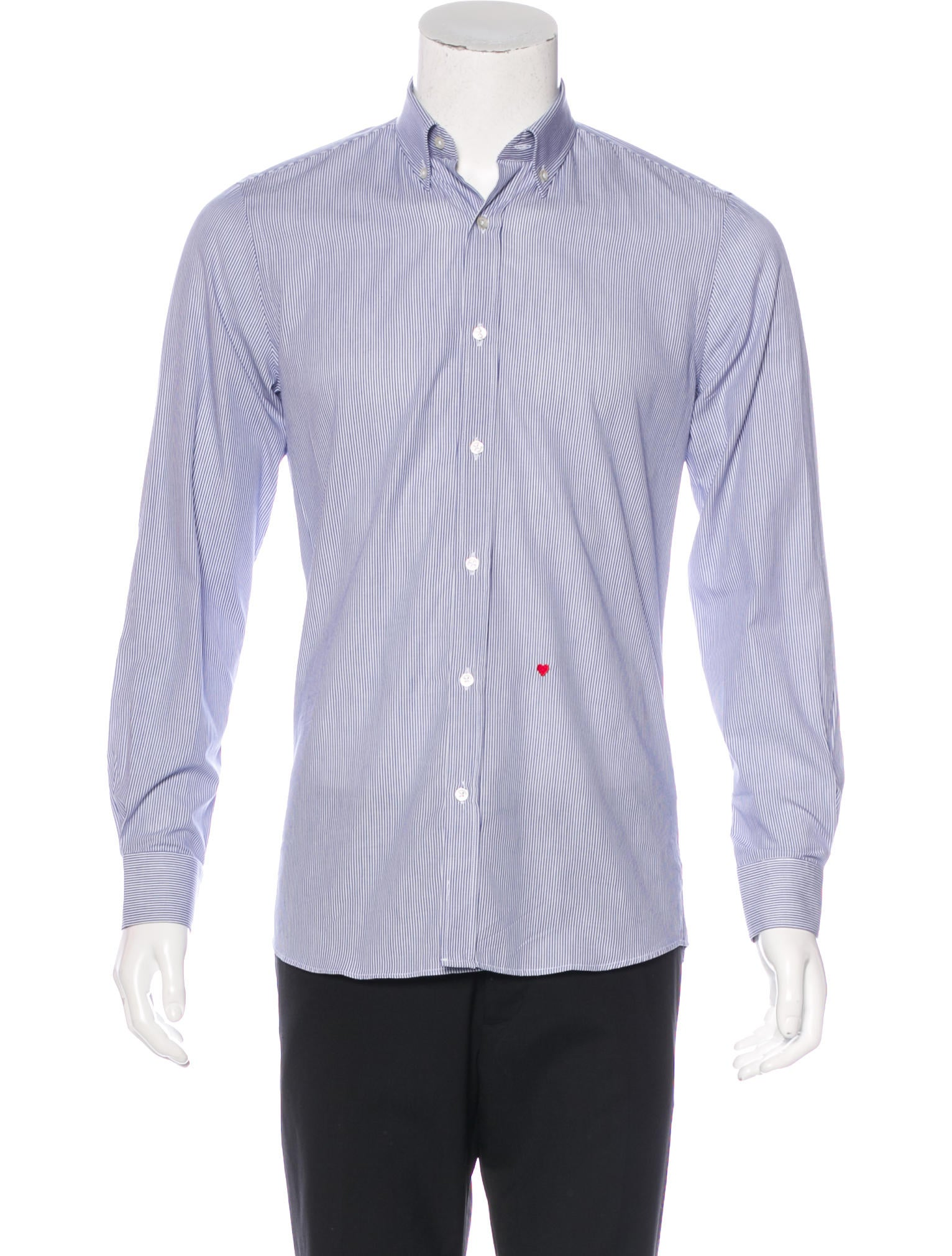 Moschino striped woven shirt w tags clothing mos27608 Woven t shirt tags