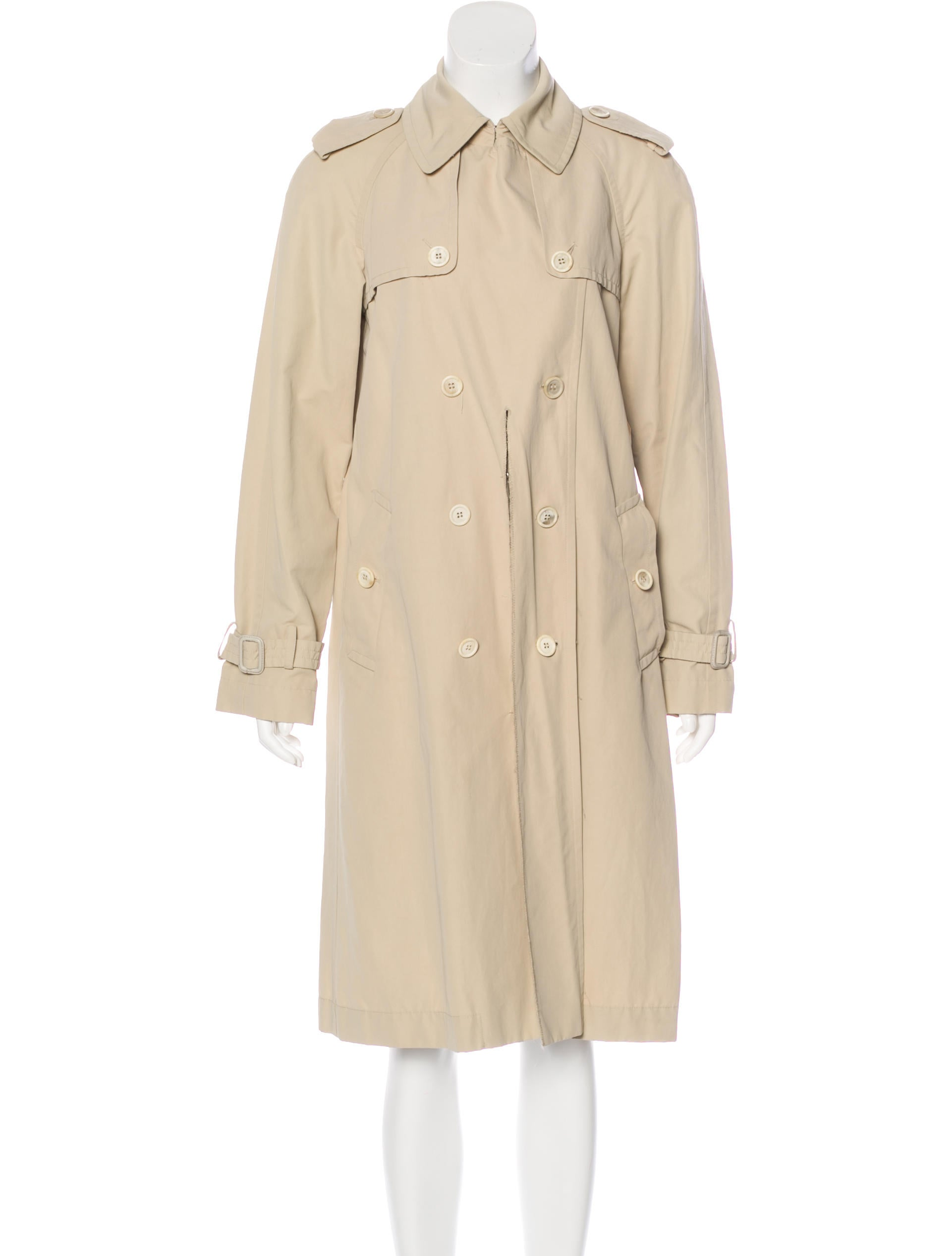 moschino trench coat clothing mos28352 the realreal