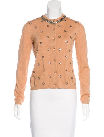 Moschino Wool Embellished Cardigan None