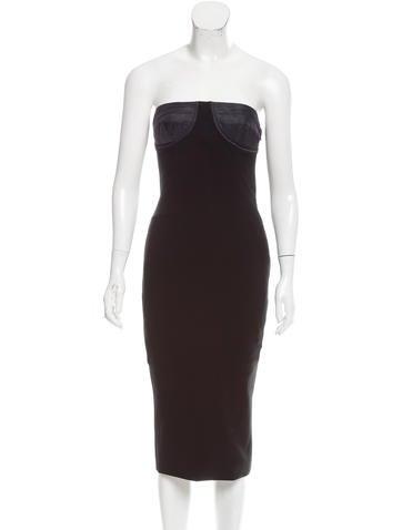 Moschino Strapless Mini Dress None