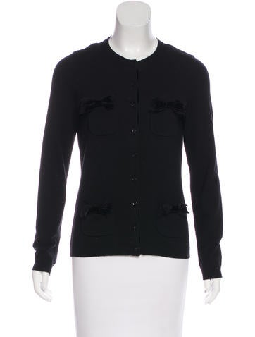Moschino Wool Bow-Accented Cardigan None