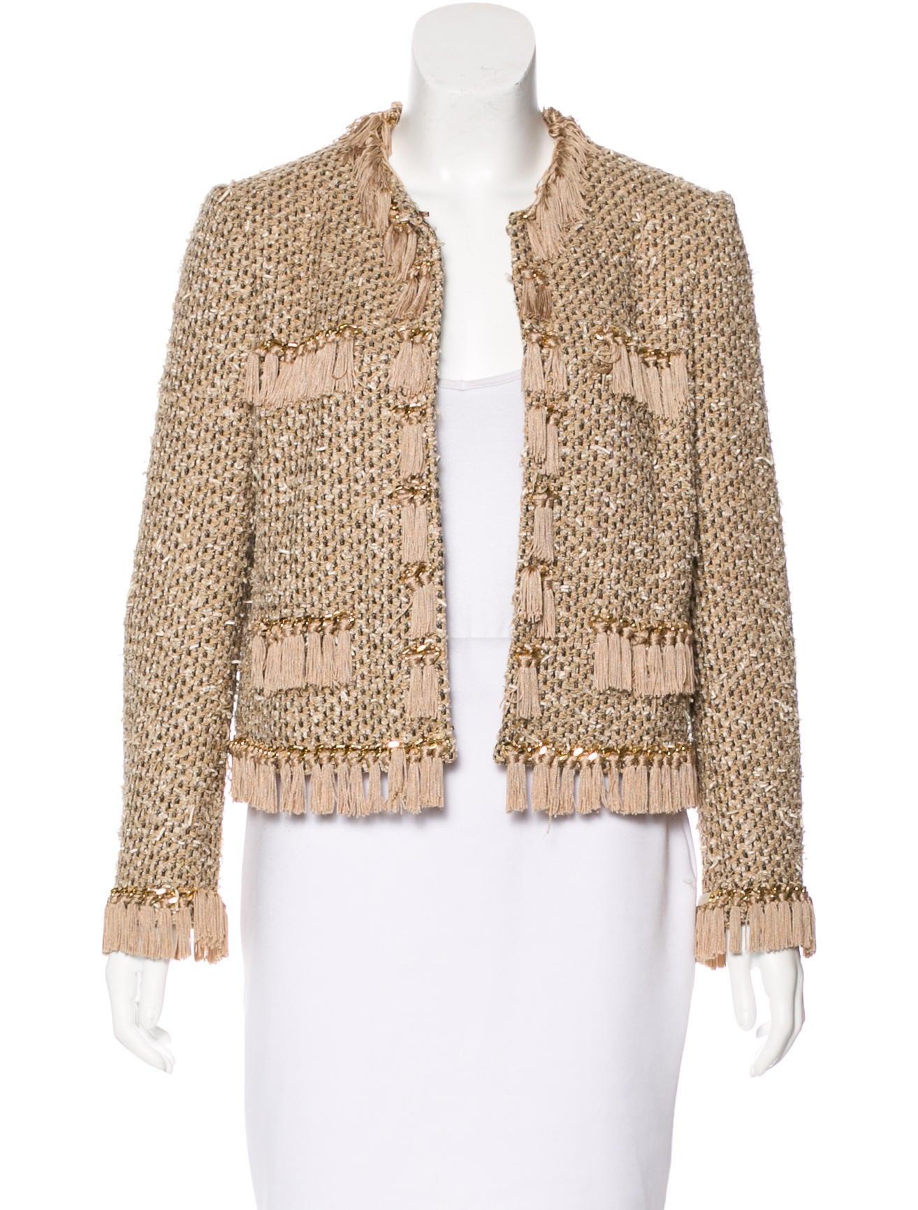 Moschino Bouclé Fringe Jacket - Clothing