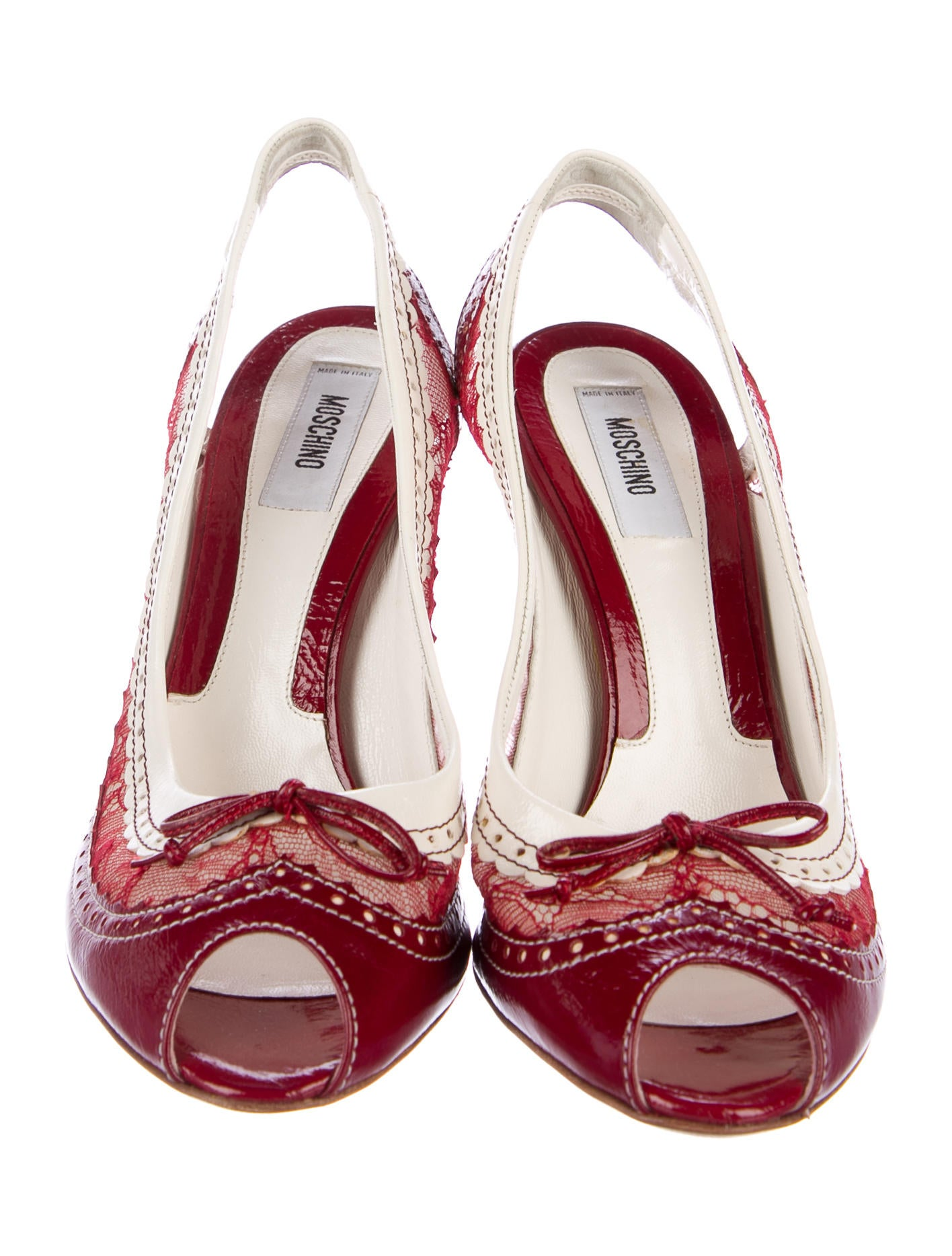 Moschino Brogue Slingback Pumps clearance Inexpensive discount manchester great sale with paypal cheap online nicekicks cheap price RjaKL