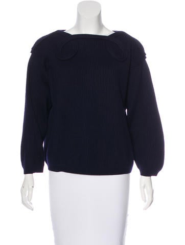 Moschino Wool Rib Knit Sweater None