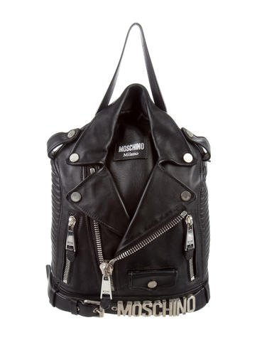 Moschino Motorcycle Jacket Backpack None