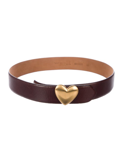 Moschino Leather Belt gold