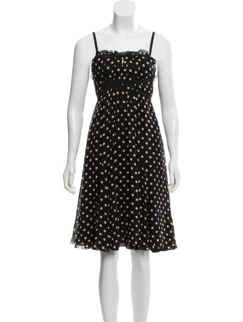 Moschino Silk Polka Dot Dress Black