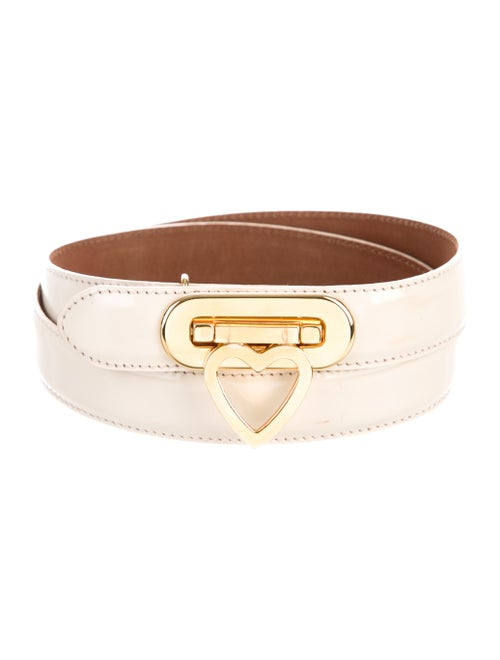 Moschino Leather Hip Belt gold