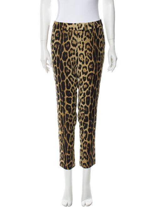 Moschino Animal Print Skinny Leg Pants Brown - image 1