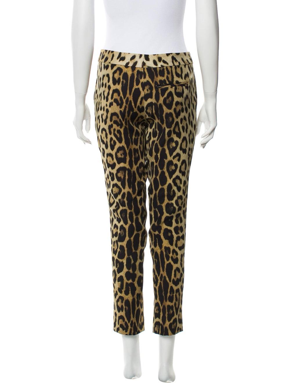 Moschino Animal Print Skinny Leg Pants Brown - image 3