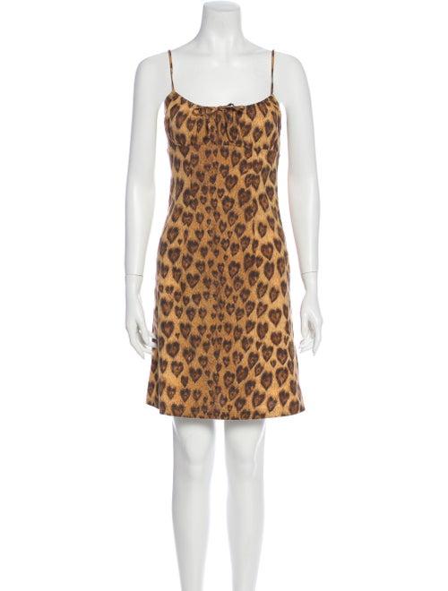 Moschino Animal Print Mini Dress