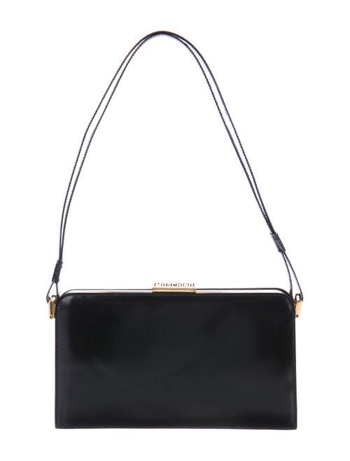 Moschino Leather Frame Shoulder Bag Black