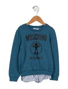 Moschino Boys' Layered Logo Sweatshirt