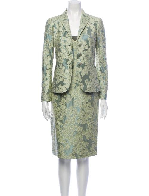 Moschino Floral Print Dress Set Green