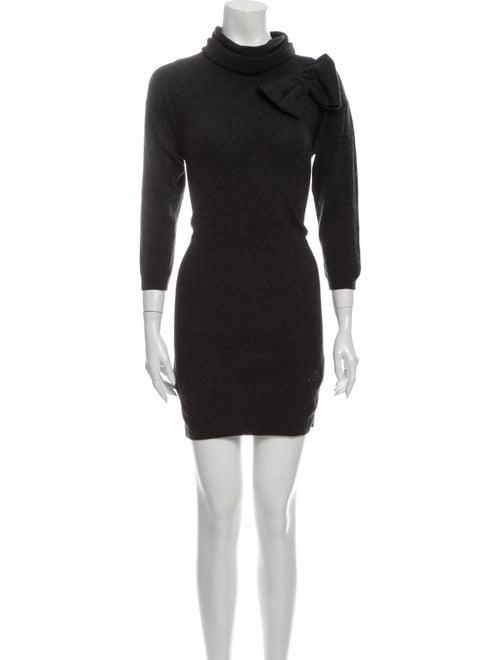 Moschino Turtleneck Mini Dress Grey