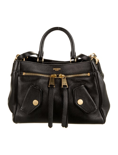 Moschino Leather Satchel Black