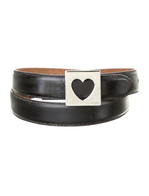 Moschino Leather Hip Belt Black - image 1