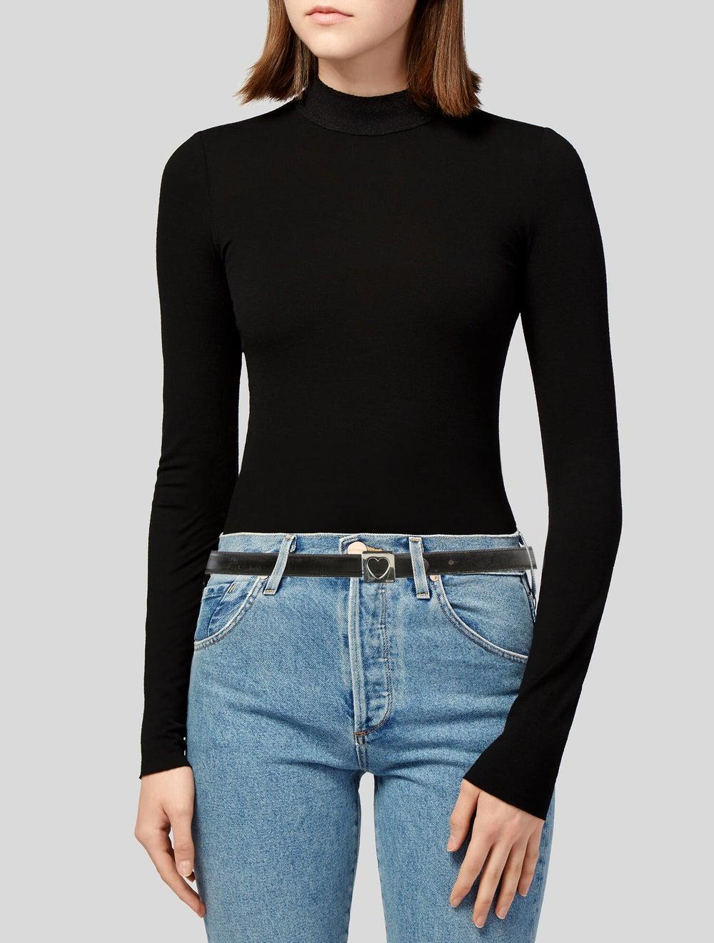 Moschino Leather Hip Belt Black - image 2