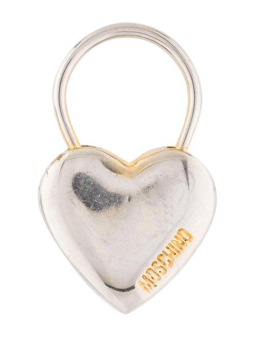 Moschino Padlock Heart Keychain Gold