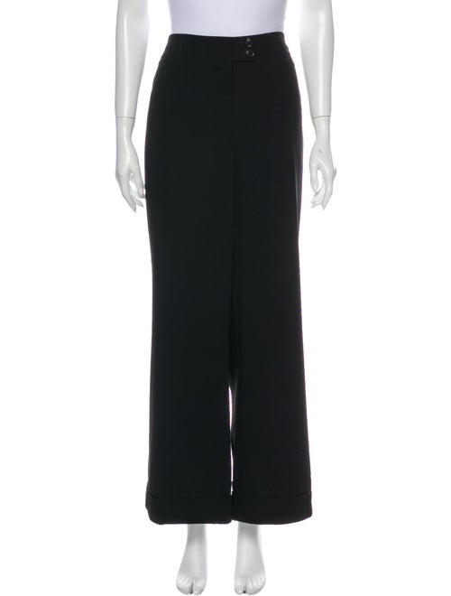 Moschino Wide Leg Pants Black