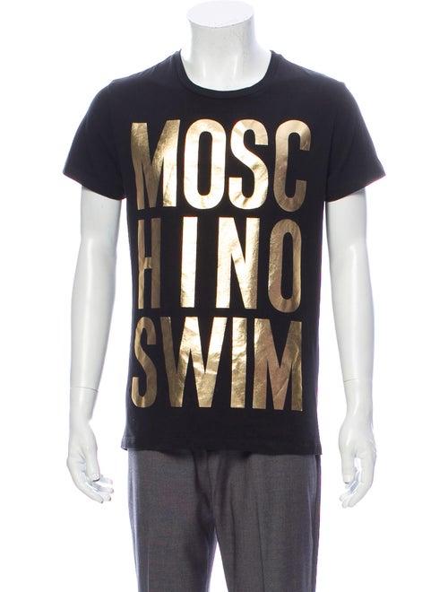 Moschino Printed Crew Neck T-Shirt Black