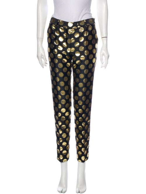 Moschino Printed Straight Leg Pants Black