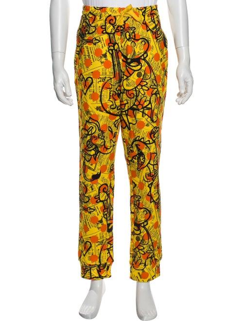 Moschino Printed Pants w/ Tags Orange