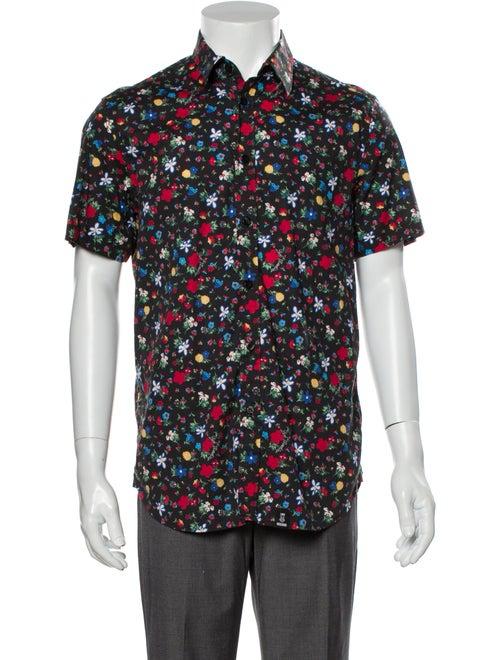 Moschino Floral Floral Print Shirt Black