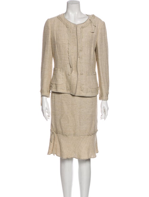 Moschino Linen Skirt Suit