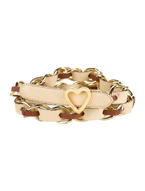 Moschino Leather Waist Belt Gold - image 1