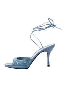 Moschino Crystal Embellishments Sandals