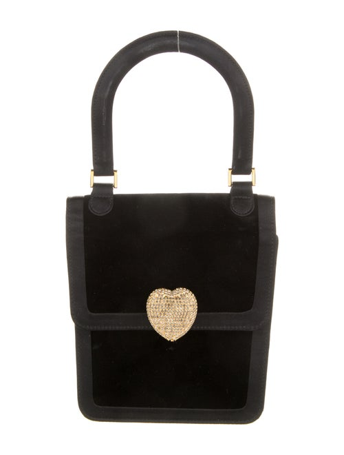 Moschino Velvet Handle Bag Black