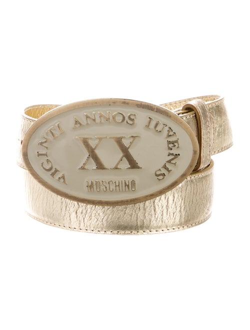 Moschino Leather Belt Gold - image 1