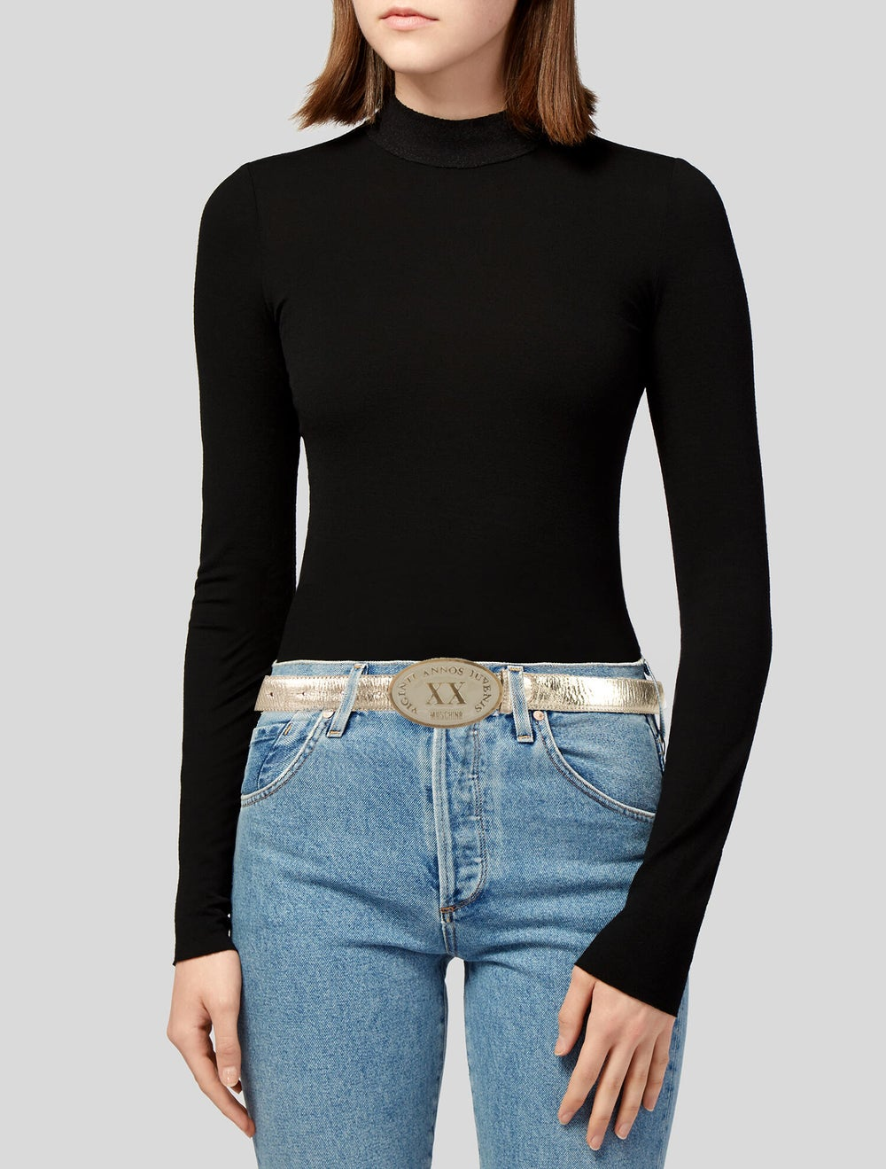 Moschino Leather Belt Gold - image 2