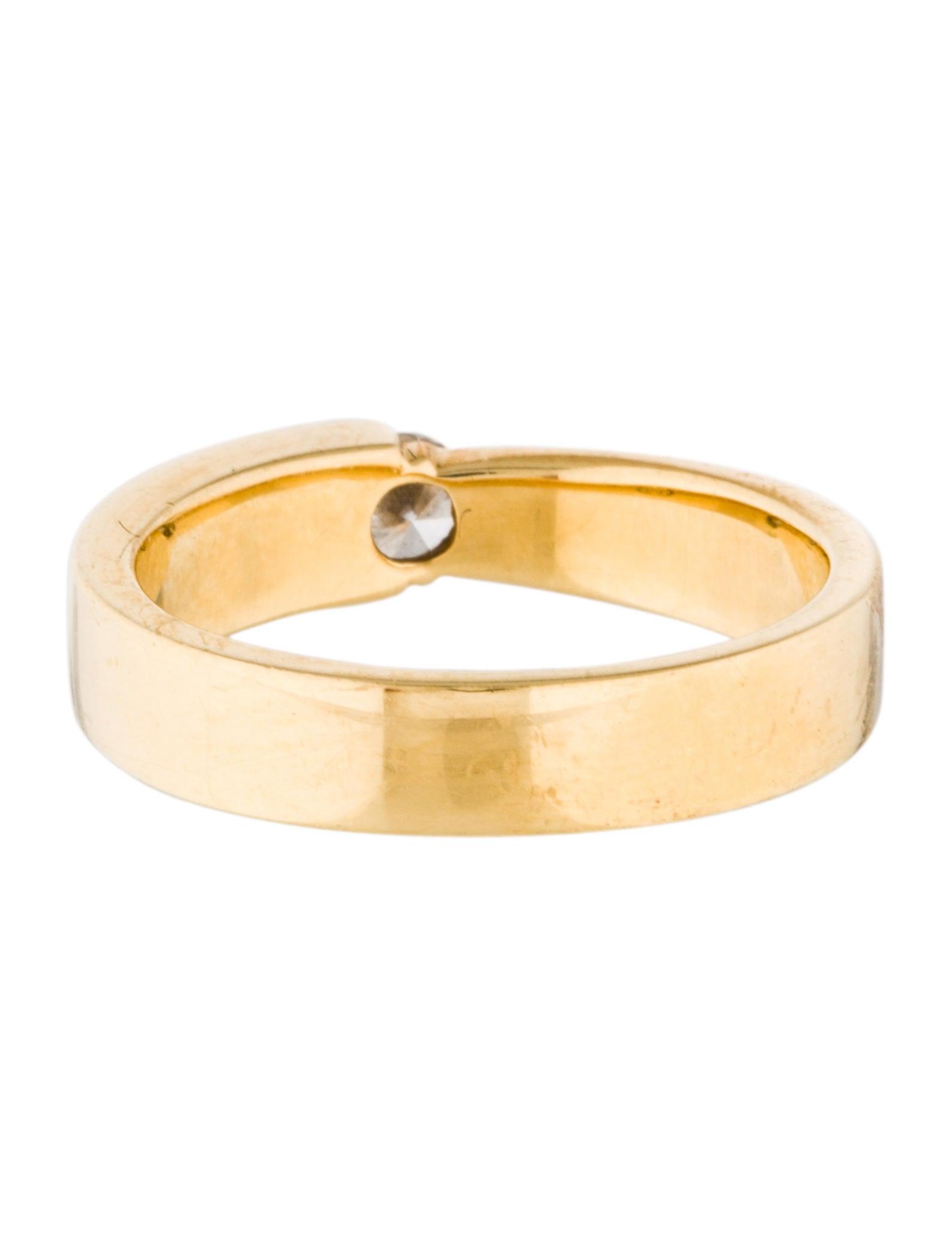 Movado 18K Diamond Band Rings MOV20768 The RealReal