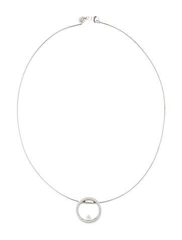 Movado 18k diamond circle pendant necklace necklaces mov21168 18k diamond circle pendant necklace aloadofball Gallery