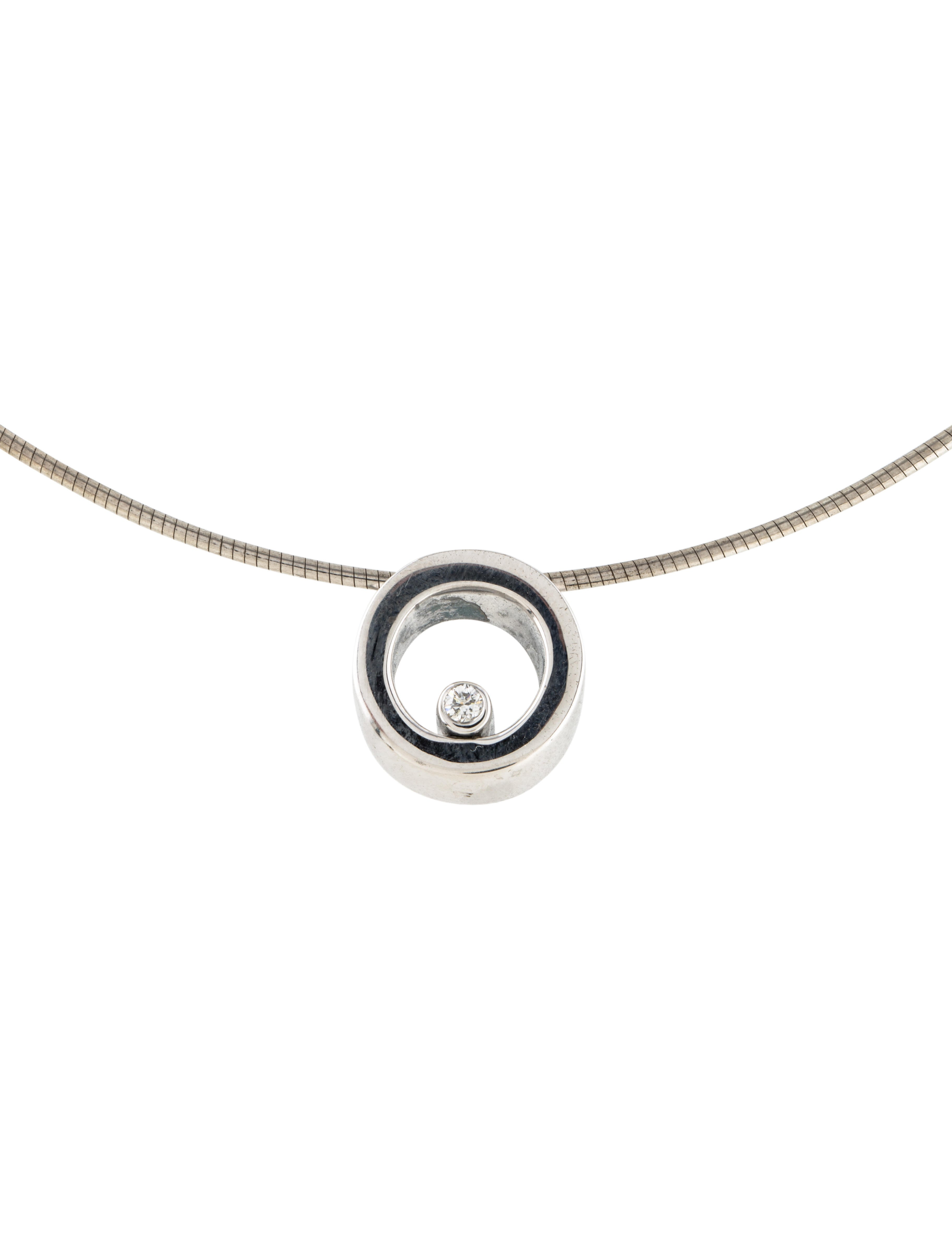 Movado diamond circle pendant necklace necklaces mov21382 the diamond circle pendant necklace aloadofball Images