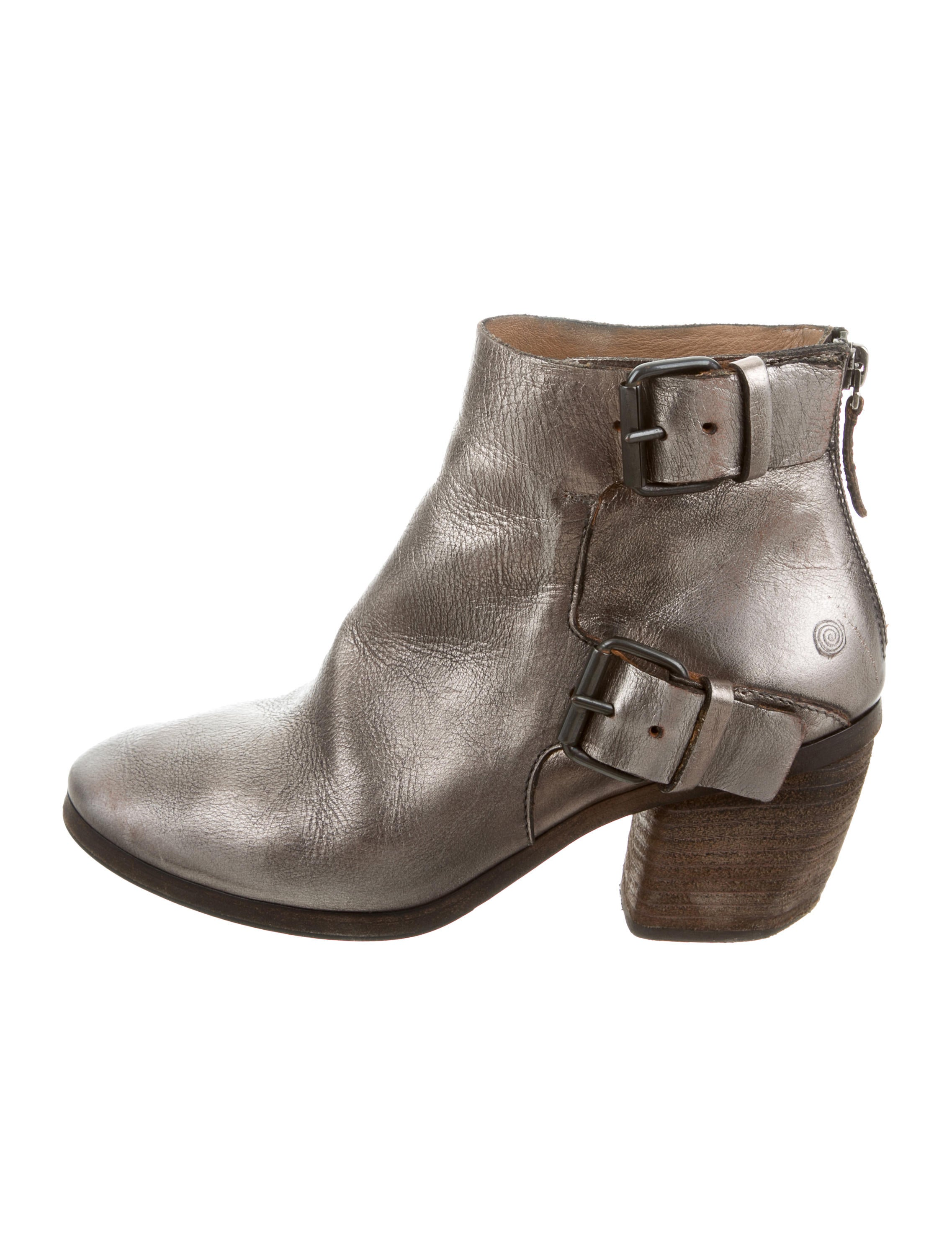 Metallic Leather Boots : Marsèll metallic leather ankle boots shoes mrc