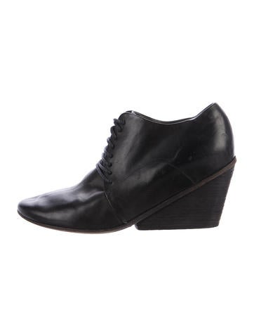 Marsèll Leather Lace-Up Booties None