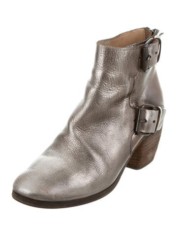 Marsèll Leather Buckle-Accented Booties outlet fashion Style AZ4Evq