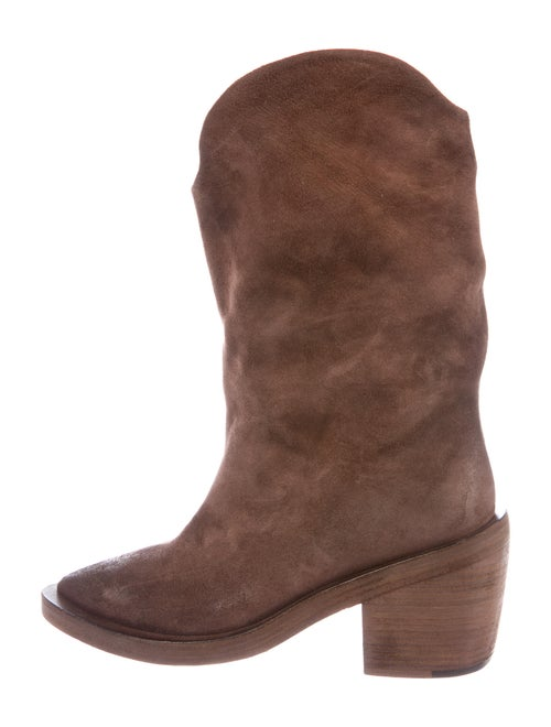 Marsèll Suede Western Boots Brown - image 1