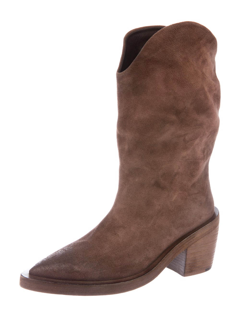 Marsèll Suede Western Boots Brown - image 2