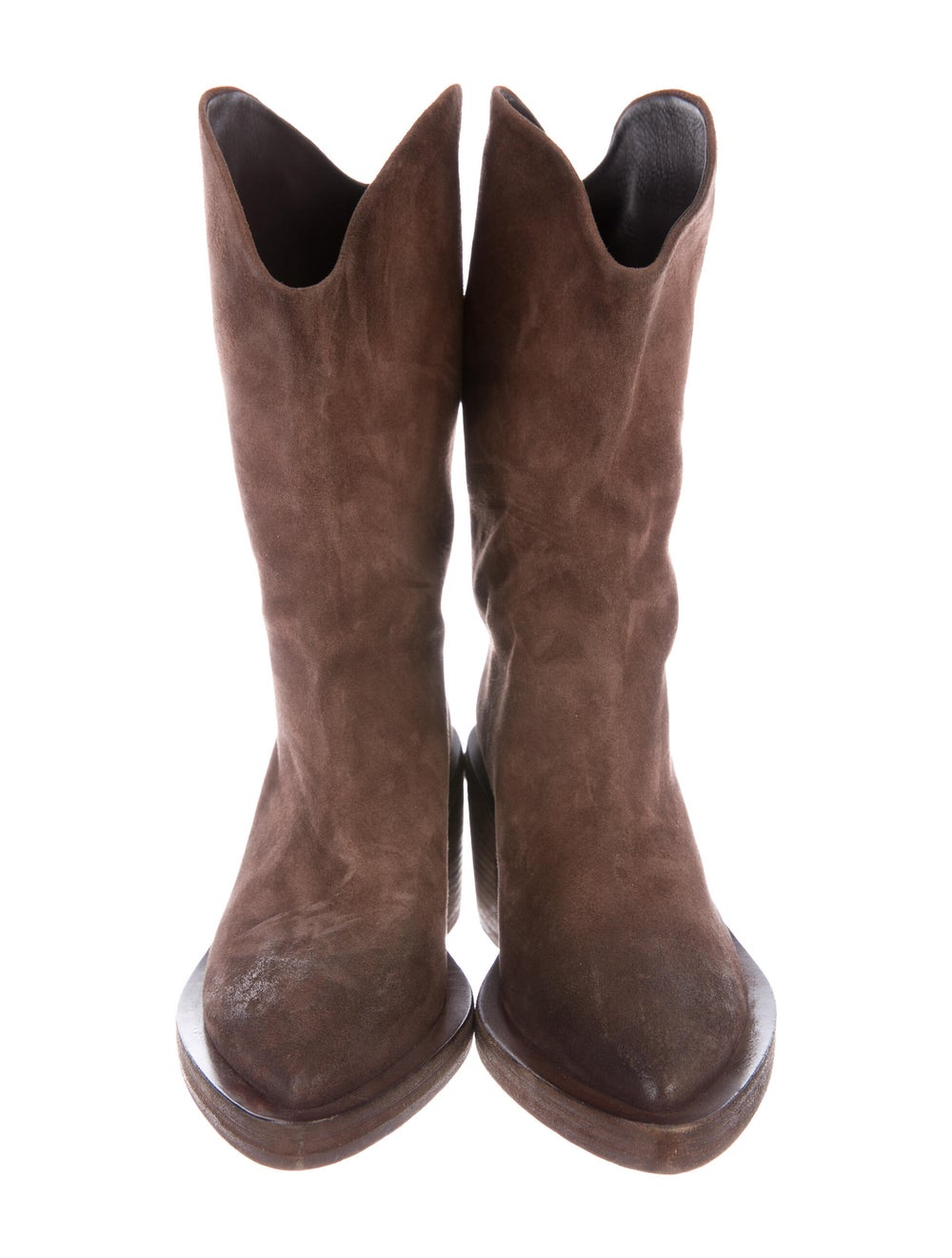 Marsèll Suede Western Boots Brown - image 3