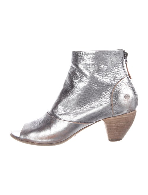 Marsèll Signature Logo Leather Boots Metallic - image 1