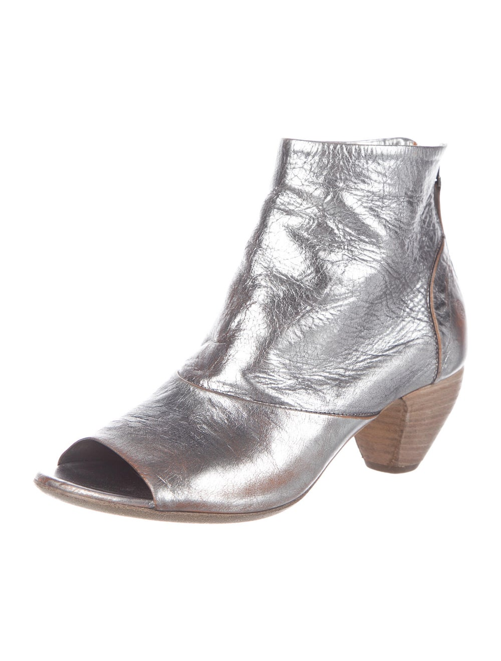 Marsèll Signature Logo Leather Boots Metallic - image 2