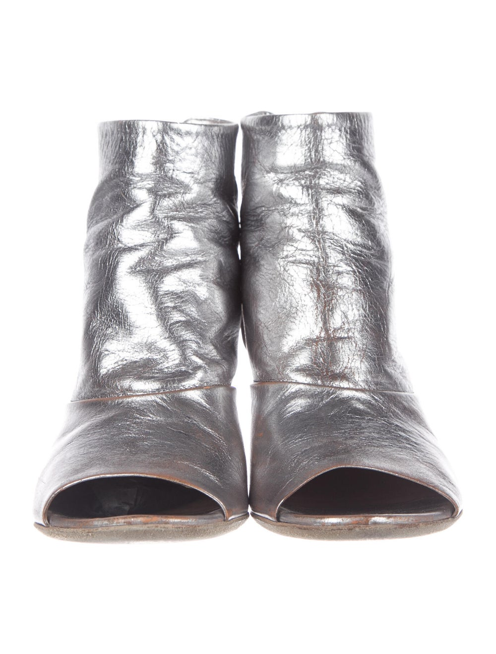 Marsèll Signature Logo Leather Boots Metallic - image 3