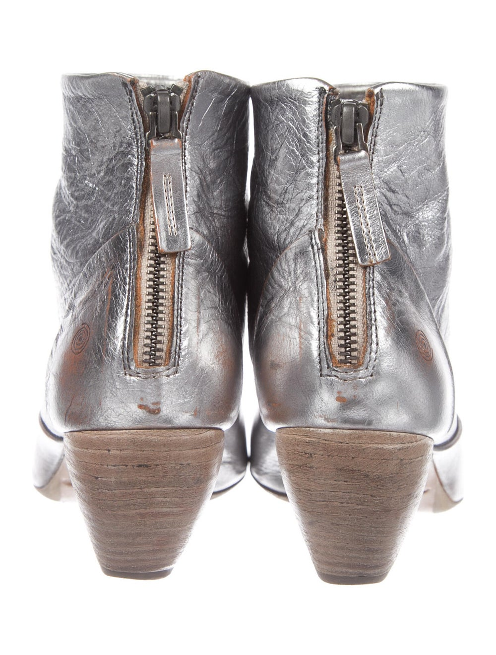 Marsèll Signature Logo Leather Boots Metallic - image 4