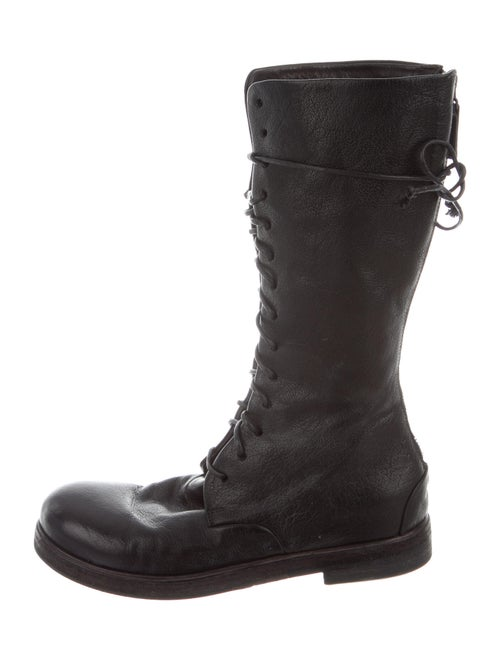 Marsèll Leather Combat Boots Black